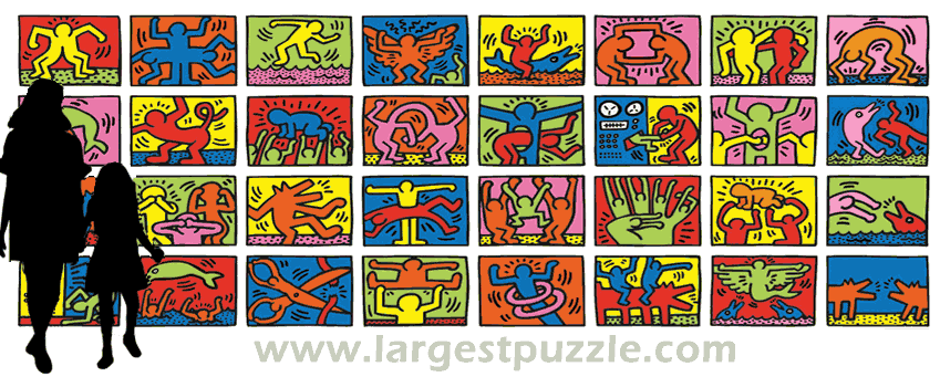Largest Puzzle – Keith Haring – Double Retrospect – 32000 Pieces – THE WORLD'S LARGEST JIGSAW PUZZLE by Ravensburger